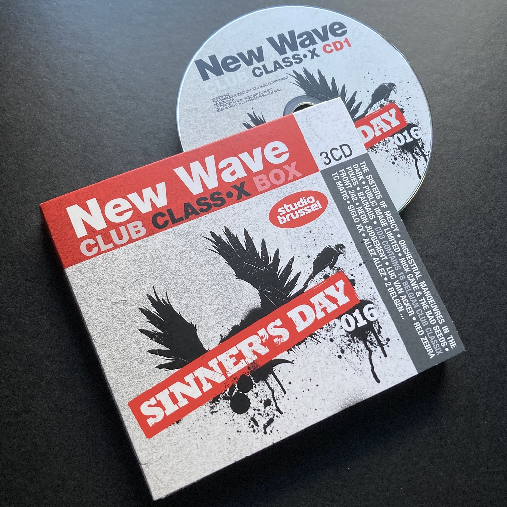 New Wave Club Class•X - Sinner's Day 2016 compilation CD