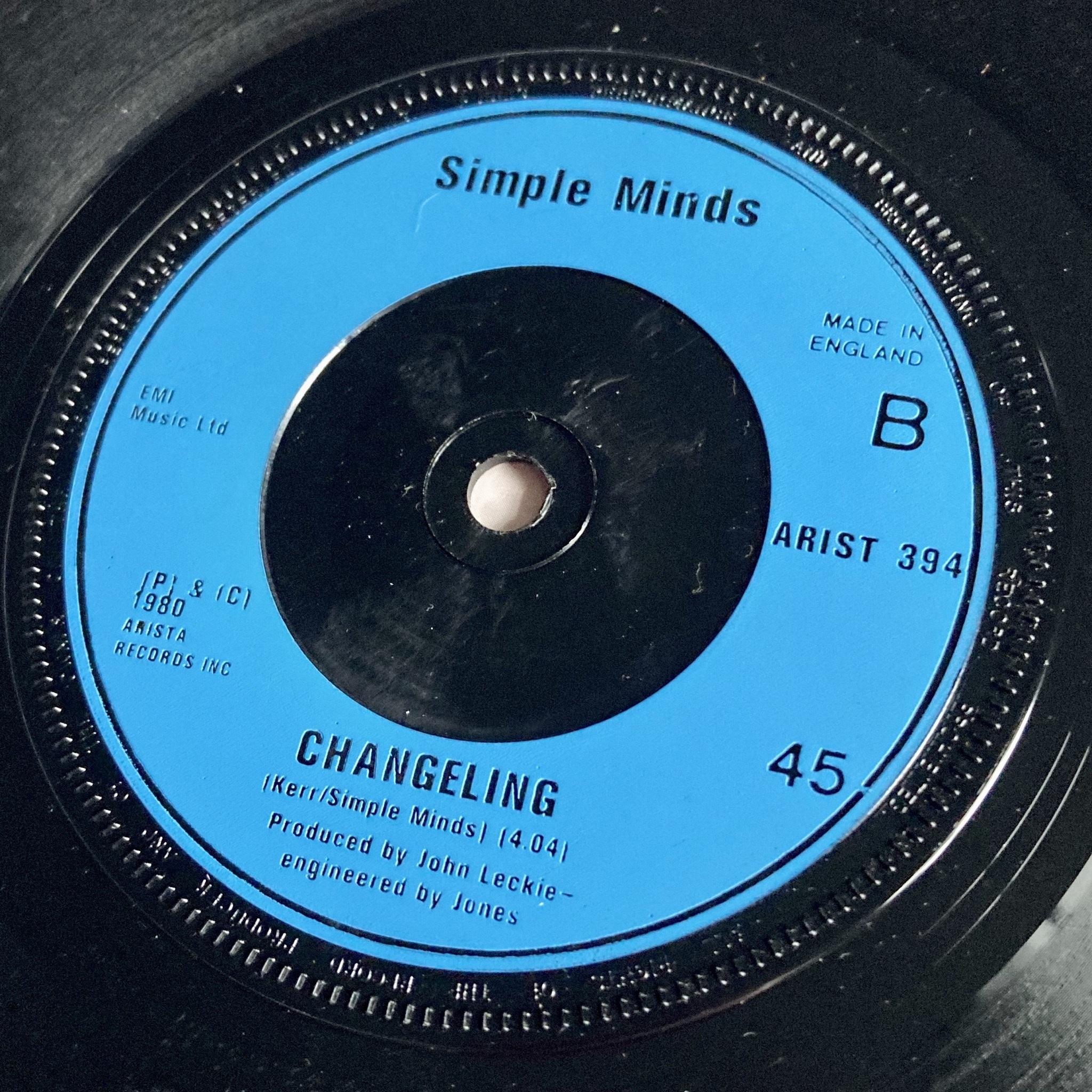 "Simple Minds - Celebrate UK 7"" label side B"