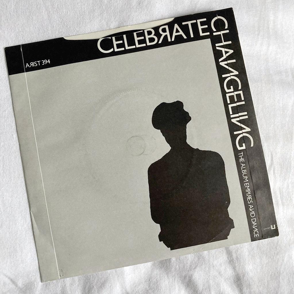 "Simple Minds - 'Celebrate' UK 7"" rear cover design"