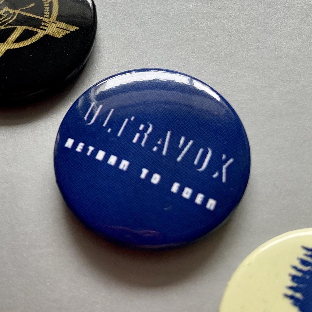 Ultravox 2009 'Return To Eden' button badge set - detail 3