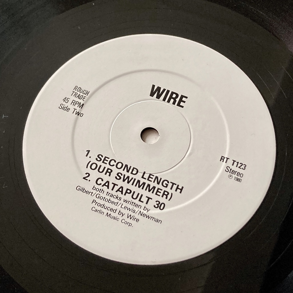 """Wire - 'Crazy About Love' 1983 UK 12"""" label side B"""