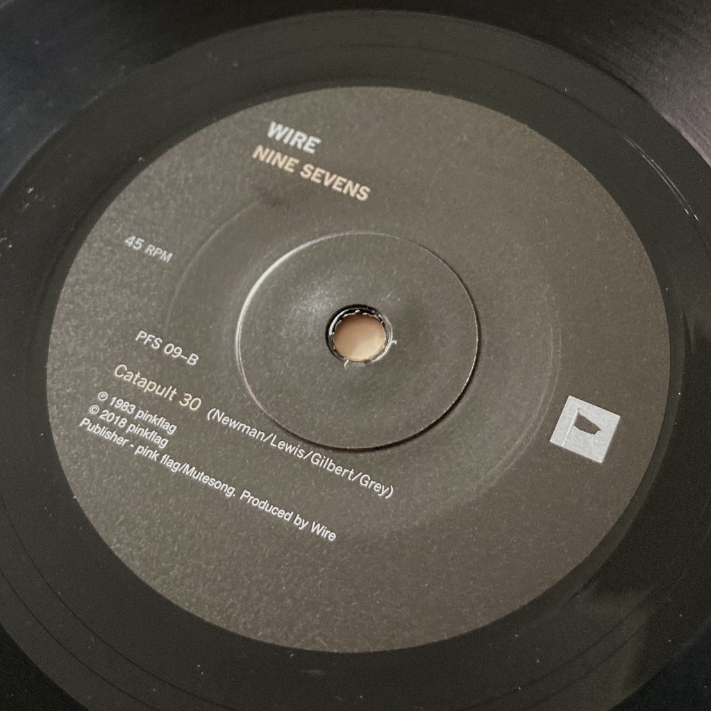 """Wire - 'Second Length' 7"""" label side B from 2018 'Nine Sevens' box set"""