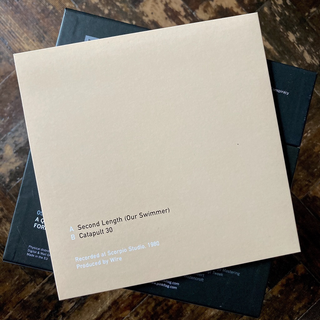 """Wire - 'Second Length' 7"""" rear cover from 2018 'Nine Sevens' box set"""