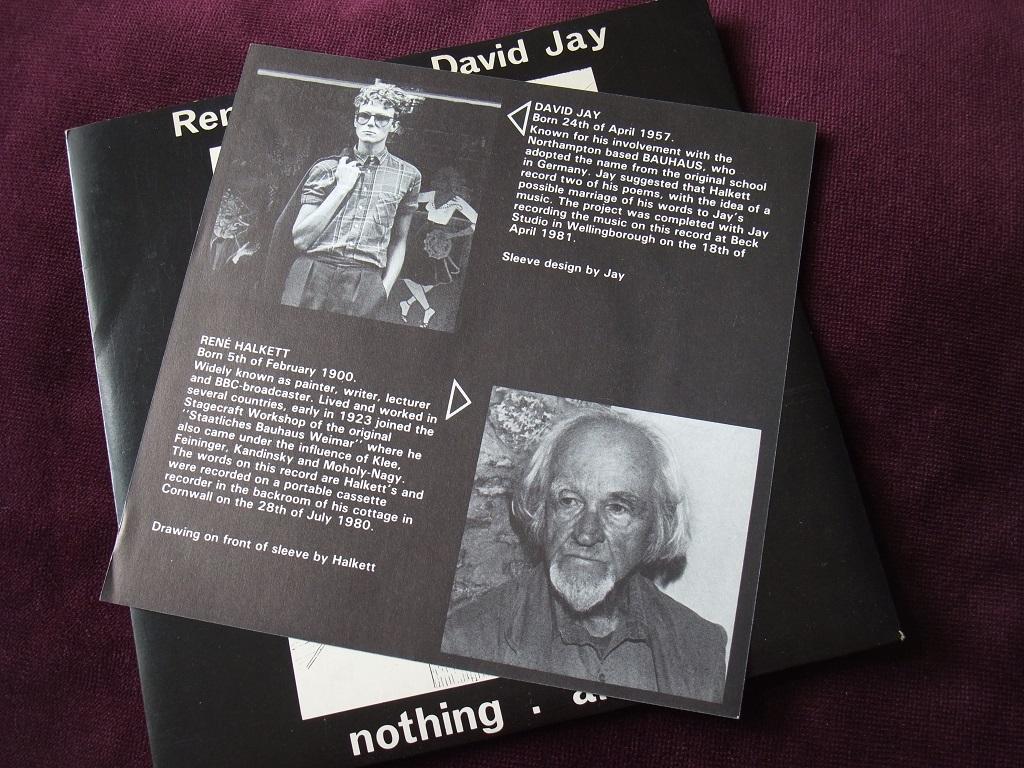 "Rene Halkett and David Jay - 'Nothing' / 'Armour' 7"" insert side 1"