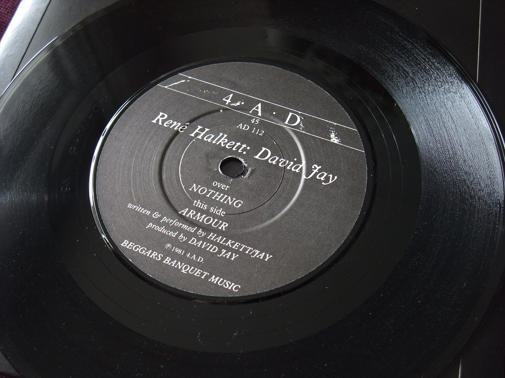 """Rene Halkett and David Jay - 'Nothing' / 'Armour' 7"""" label side 2"""