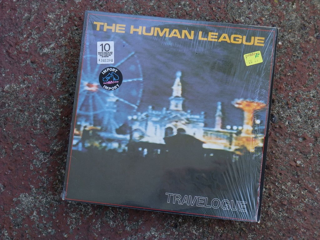 The Human League - 'Travelogue' Canadian LP front cover
