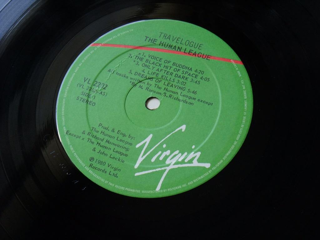 The Human League - 'Travelogue' Canadian LP label side 1