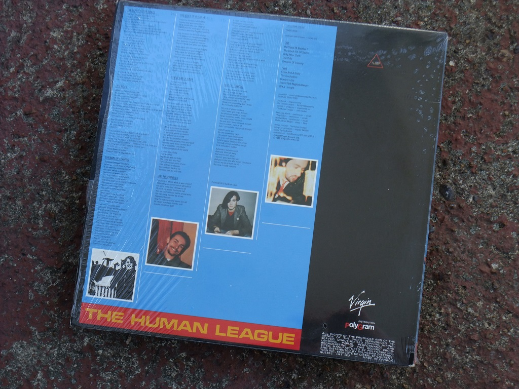 The Human League - 'Travelogue' Canadian LP rear cover