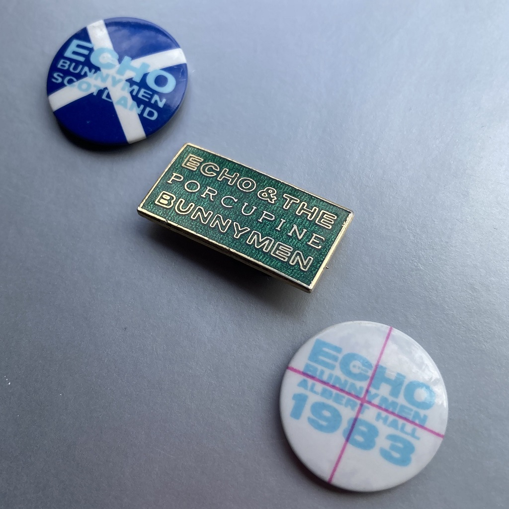 Button badge goodness - Echo and the Bunnymen Summer 1983 UK tour badges
