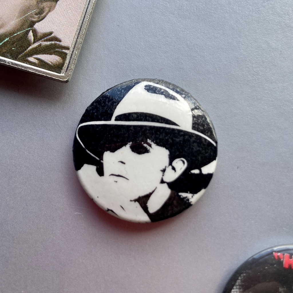 David Bowie - Man Who Fell To Earth / John I'm Only Dancing (Again) era design button badge