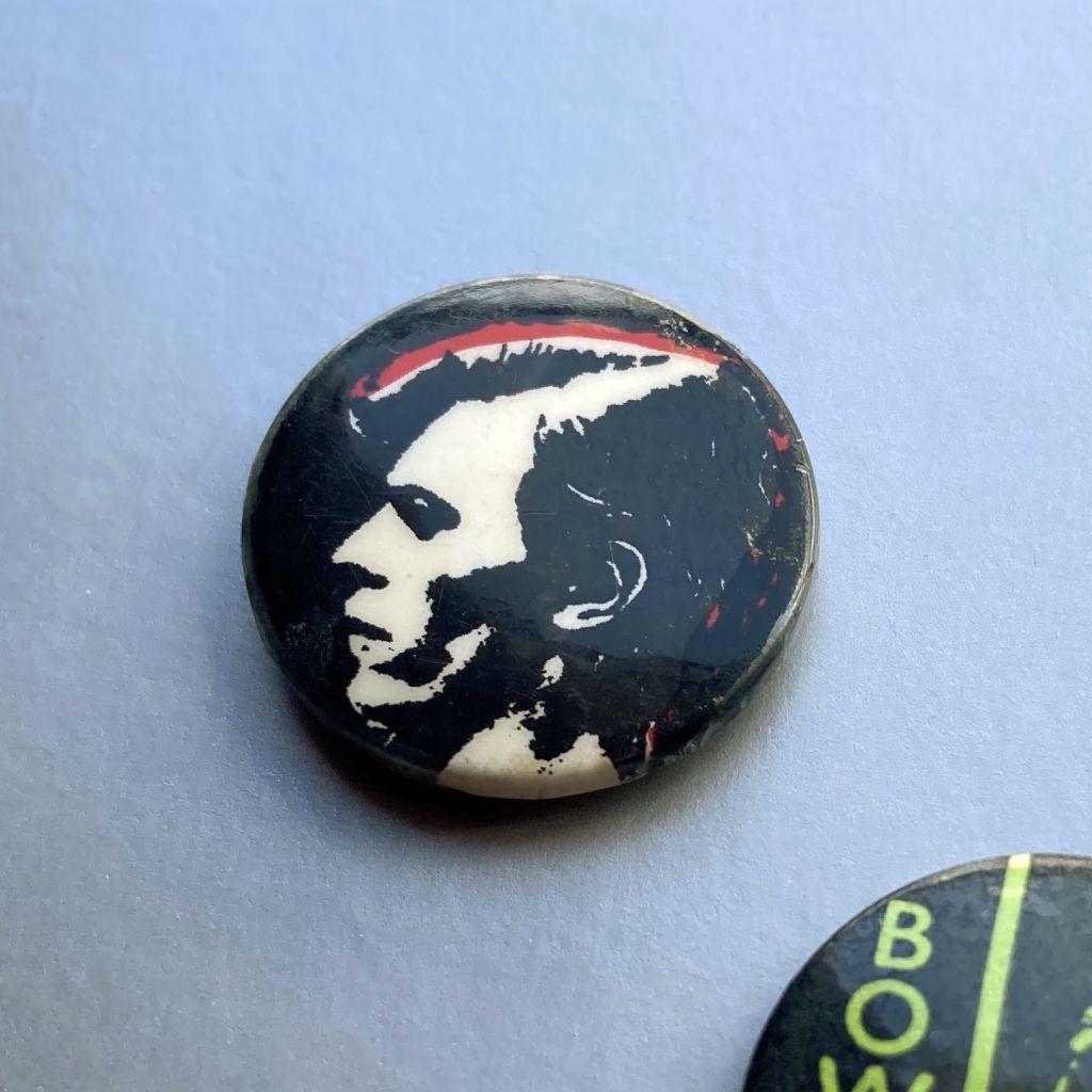 David Bowie button badge - profile shot