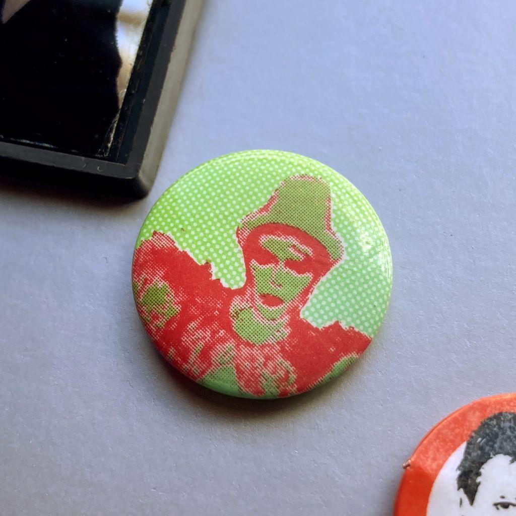David Bowie button badge - 'Ashes To Ashes' era design