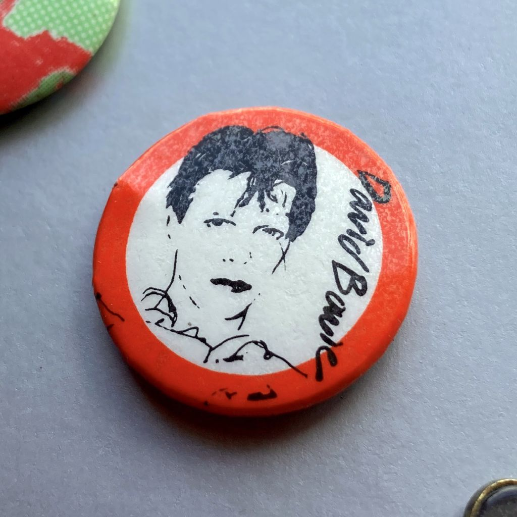 David Bowie button badge - 'Scary Monsters' era design
