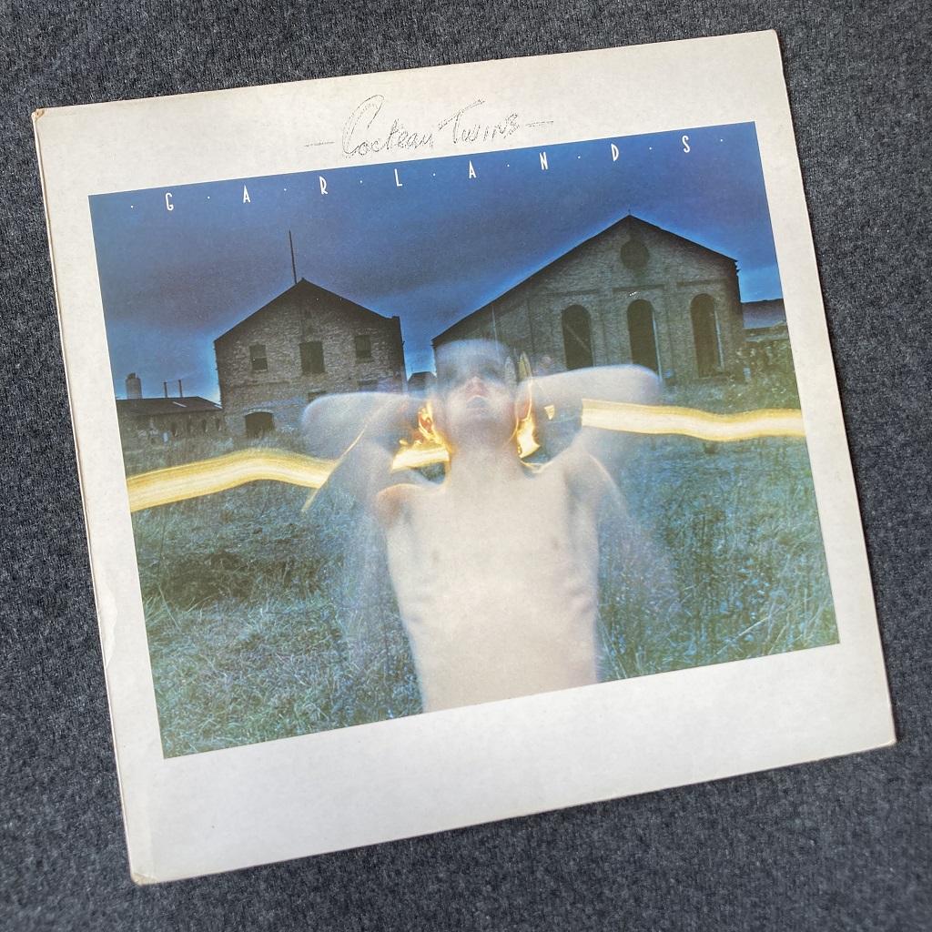 Cocteau Twins 'Garlands' UK 1982 LP front cover design