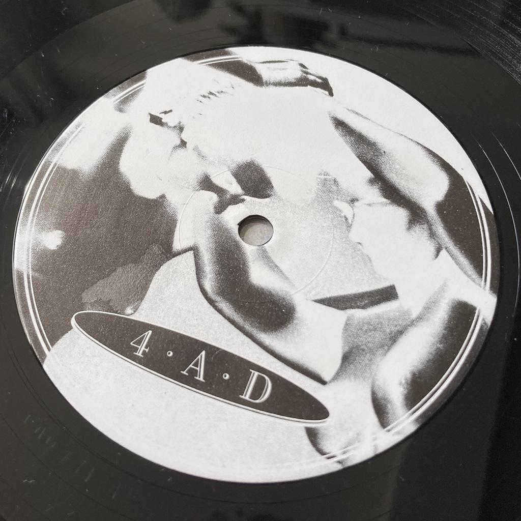 Cocteau Twins 'Garlands' UK 1982 LP label design side 1