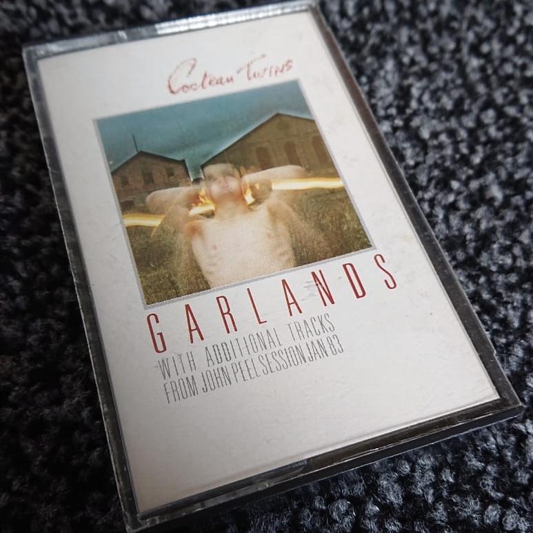 Cocteau Twins 'Garlands' 1983 cassette edition front inlay design