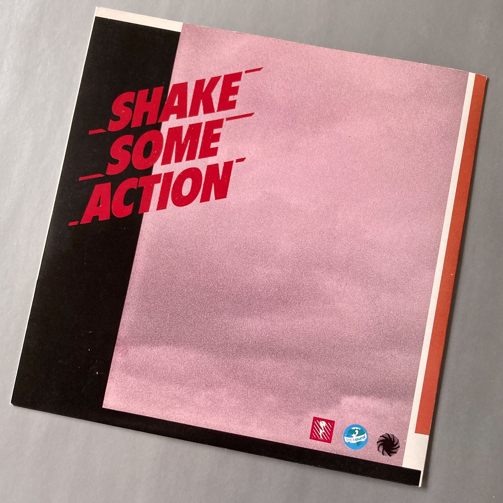 Drinking Electricity 'Shake Some Action' UK 7″ front cover design