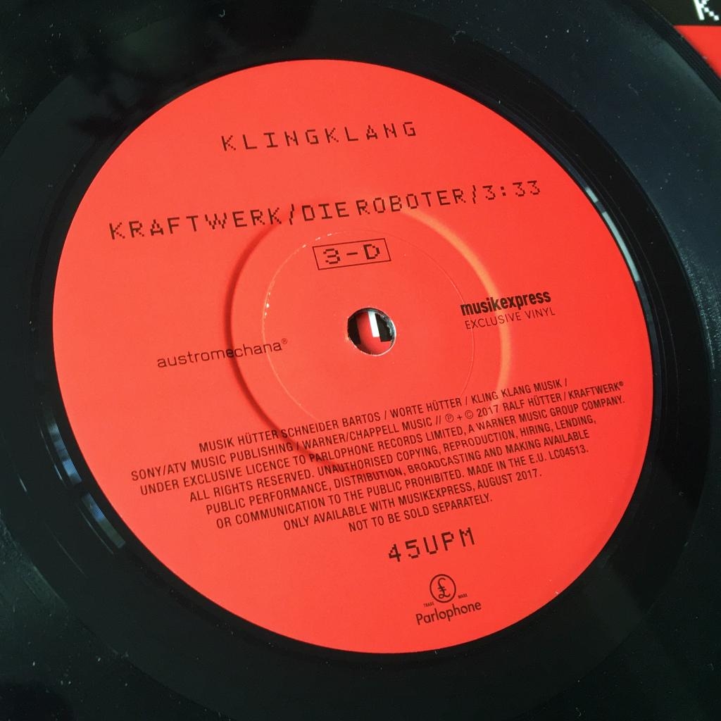 "Kraftwerk 'Die Roboter' MusikExpress magazine German 7"" single label side A"