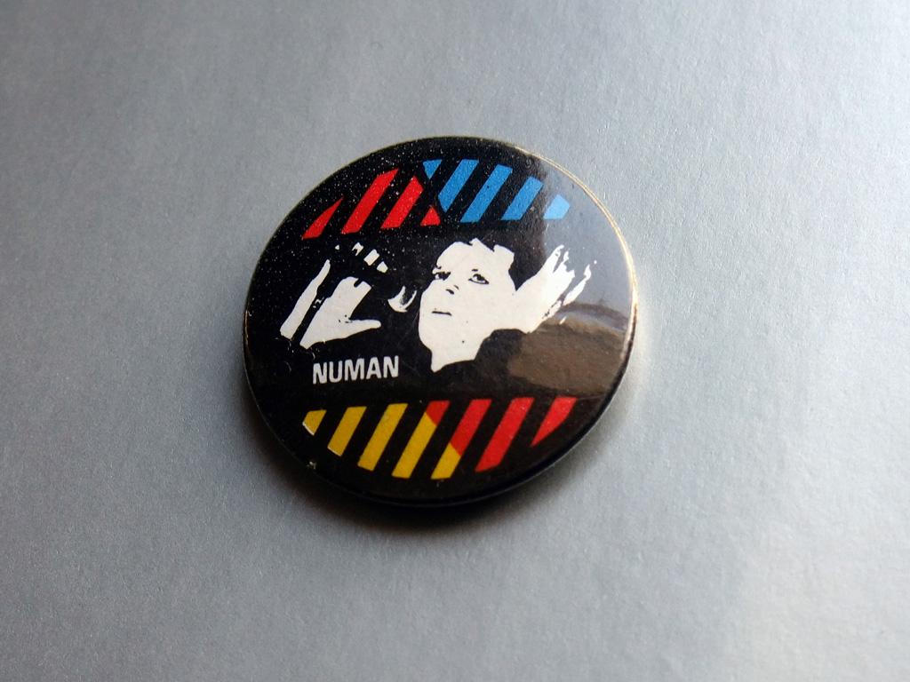 Gary Numan - live shot button badge