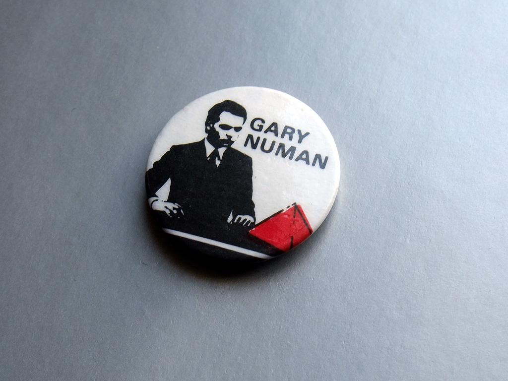 Gary Numan - Pleasure Principle era button badge