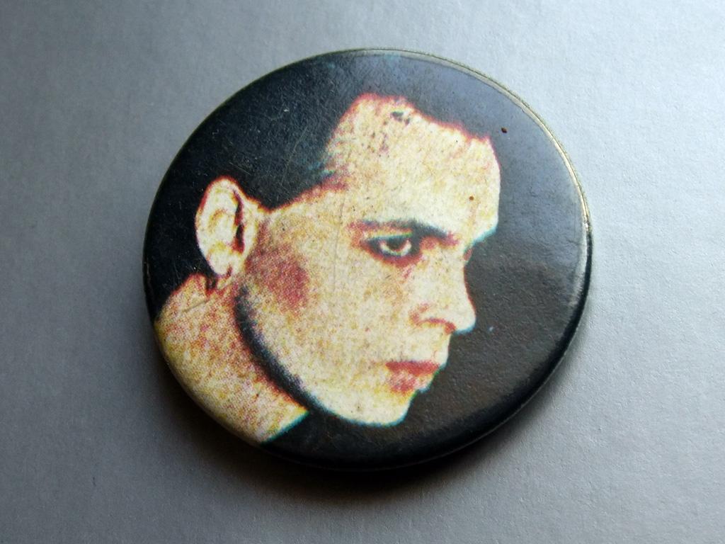 Gary Numan - side portrait button badge