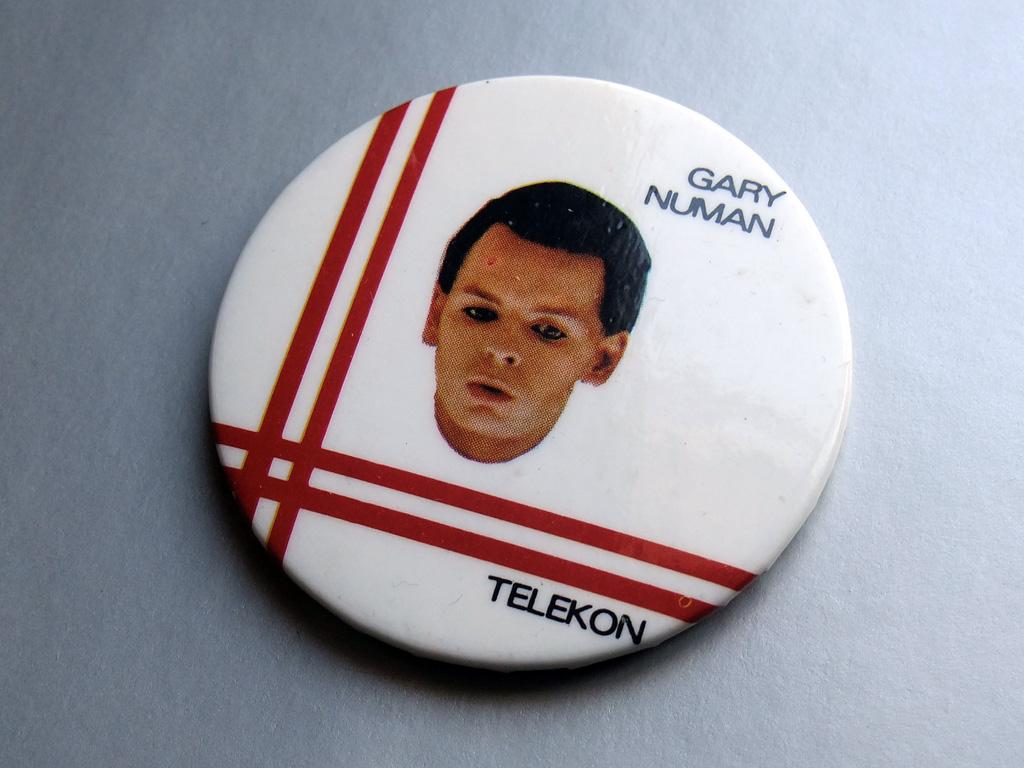 Gary Numan - Telekon white background button badge