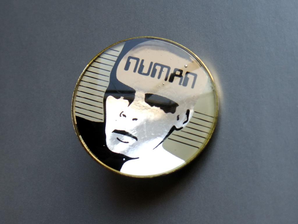 Gary Numan - 'face' design mirror button badge