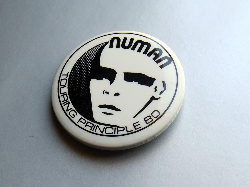Gary Numan - Touring Principle 80 'face' design button badge