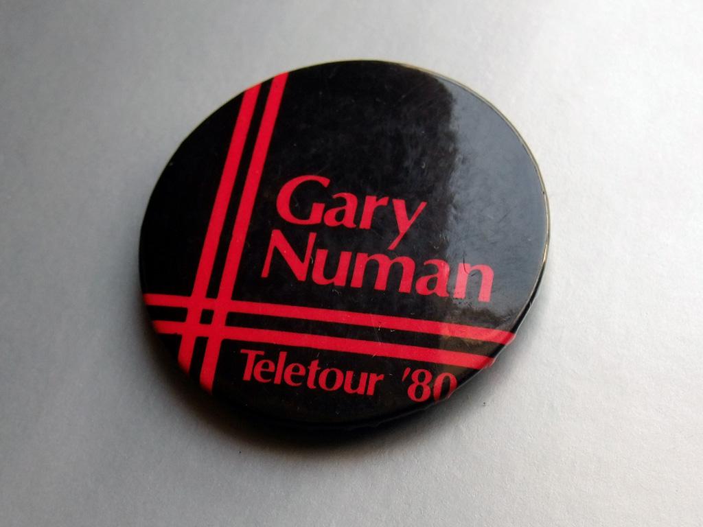 Gary Numan - Teletour '80 UK tour button badge