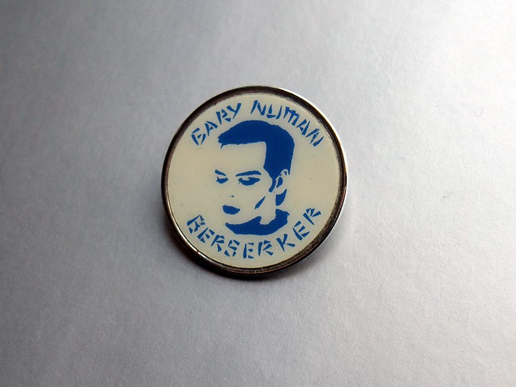 Gary Numan - 'Berserker' button badge