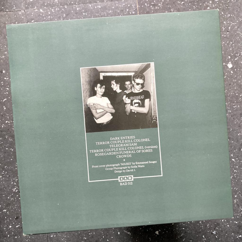 Bauhaus - '4AD' UK Mini-Album rear cover design