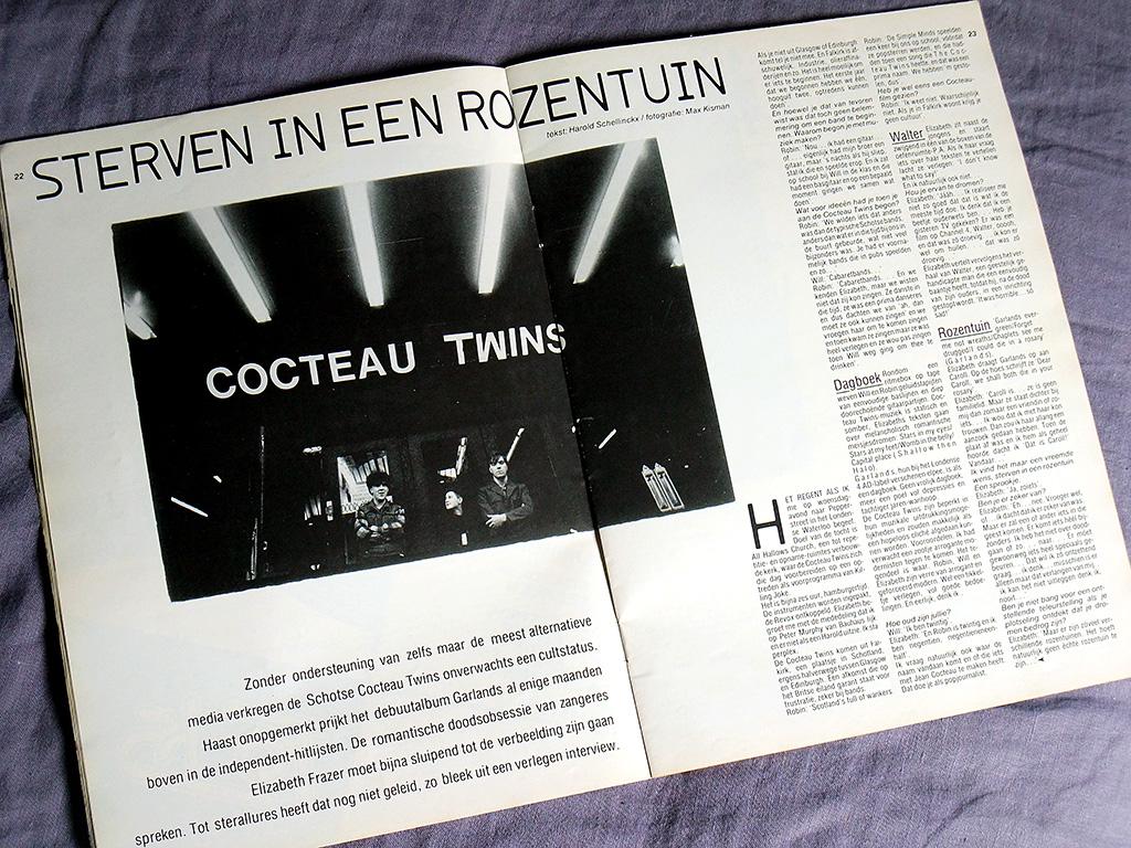 'Vinyl' Magazine January 1983 Cocteau Twins feature spread