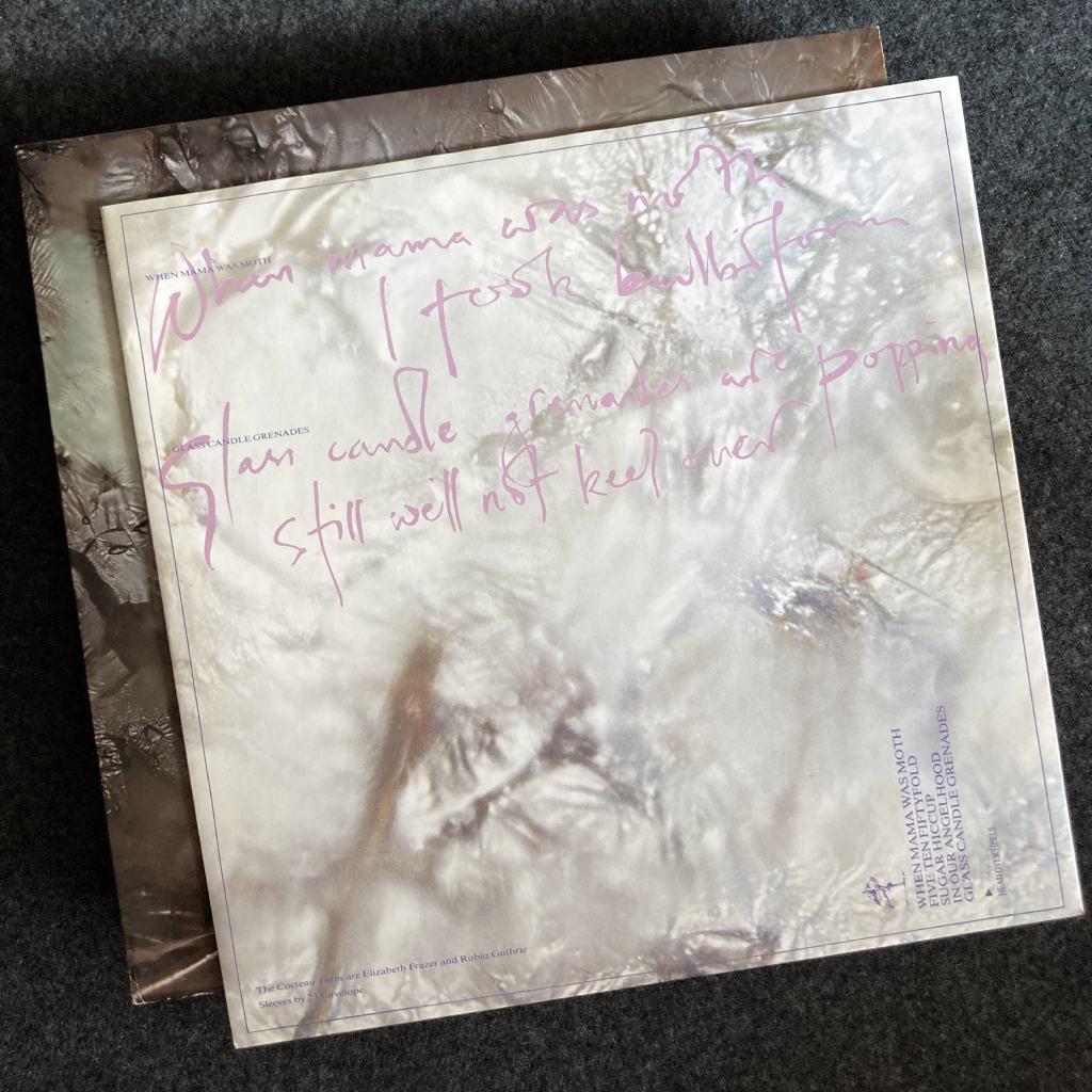 Cocteau Twins 'Head Over Heels' UK LP inner sleeve front