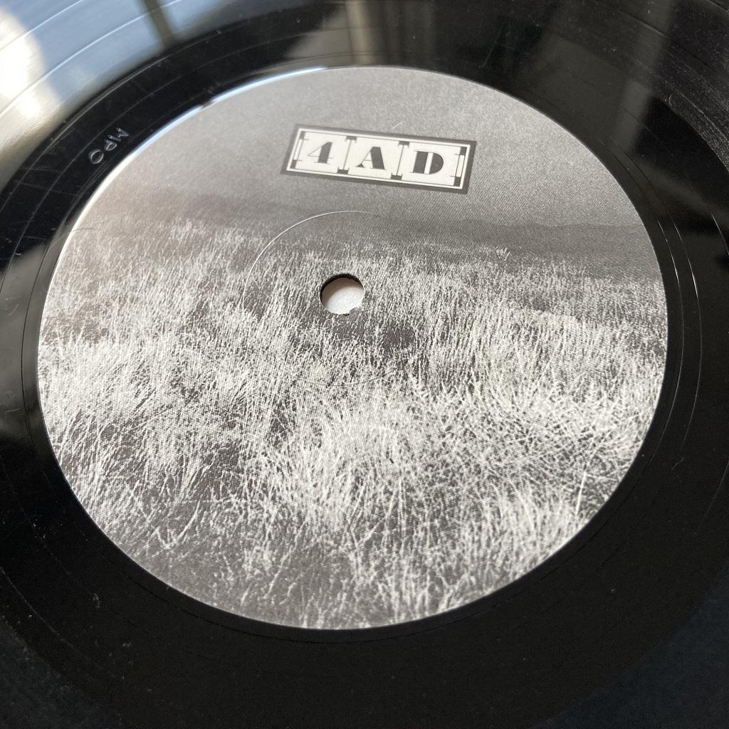 Cocteau Twins 'Head Over Heels' UK LP label design side one