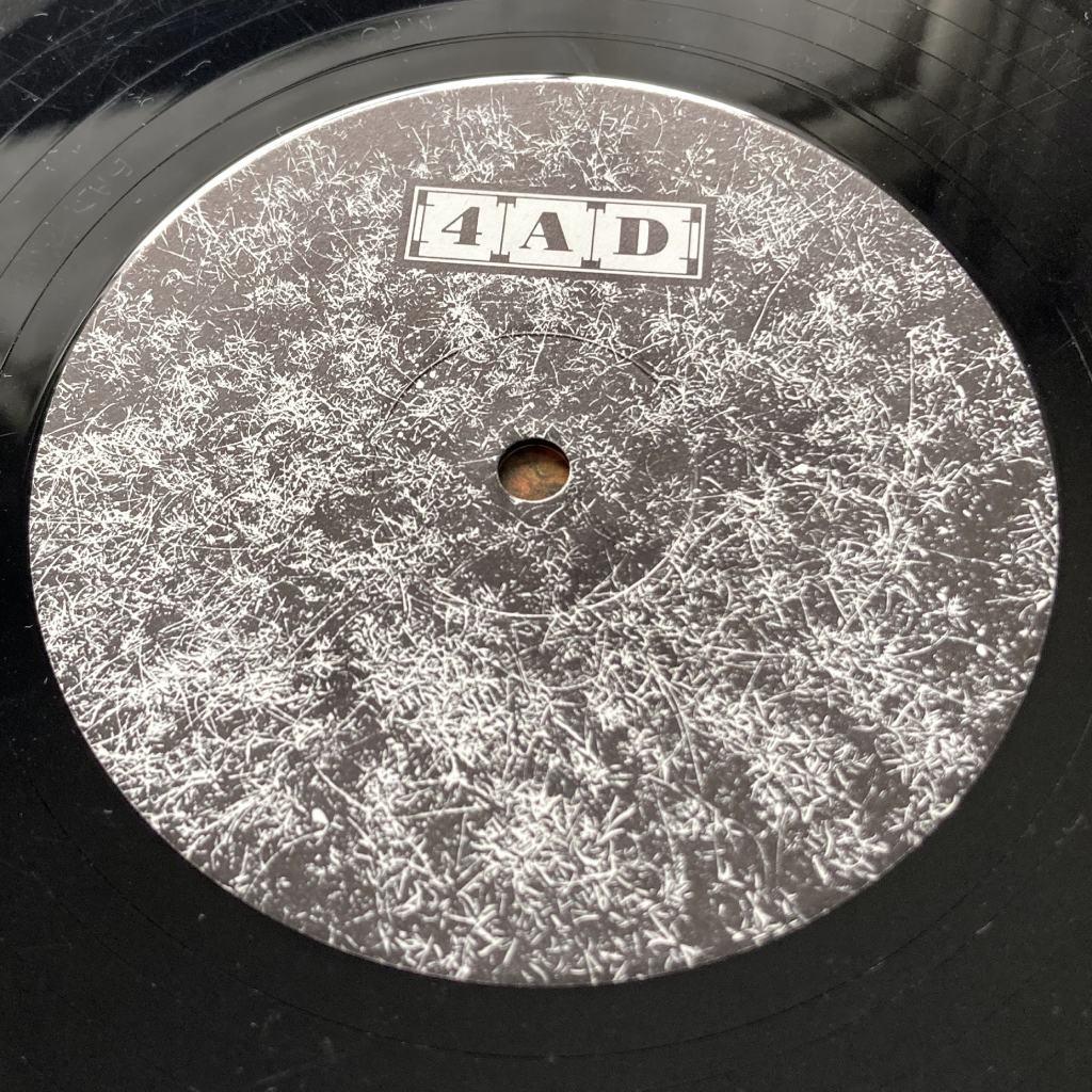 """Cocteau Twins 'Peppermint Pig' 12"""" label design side A"""