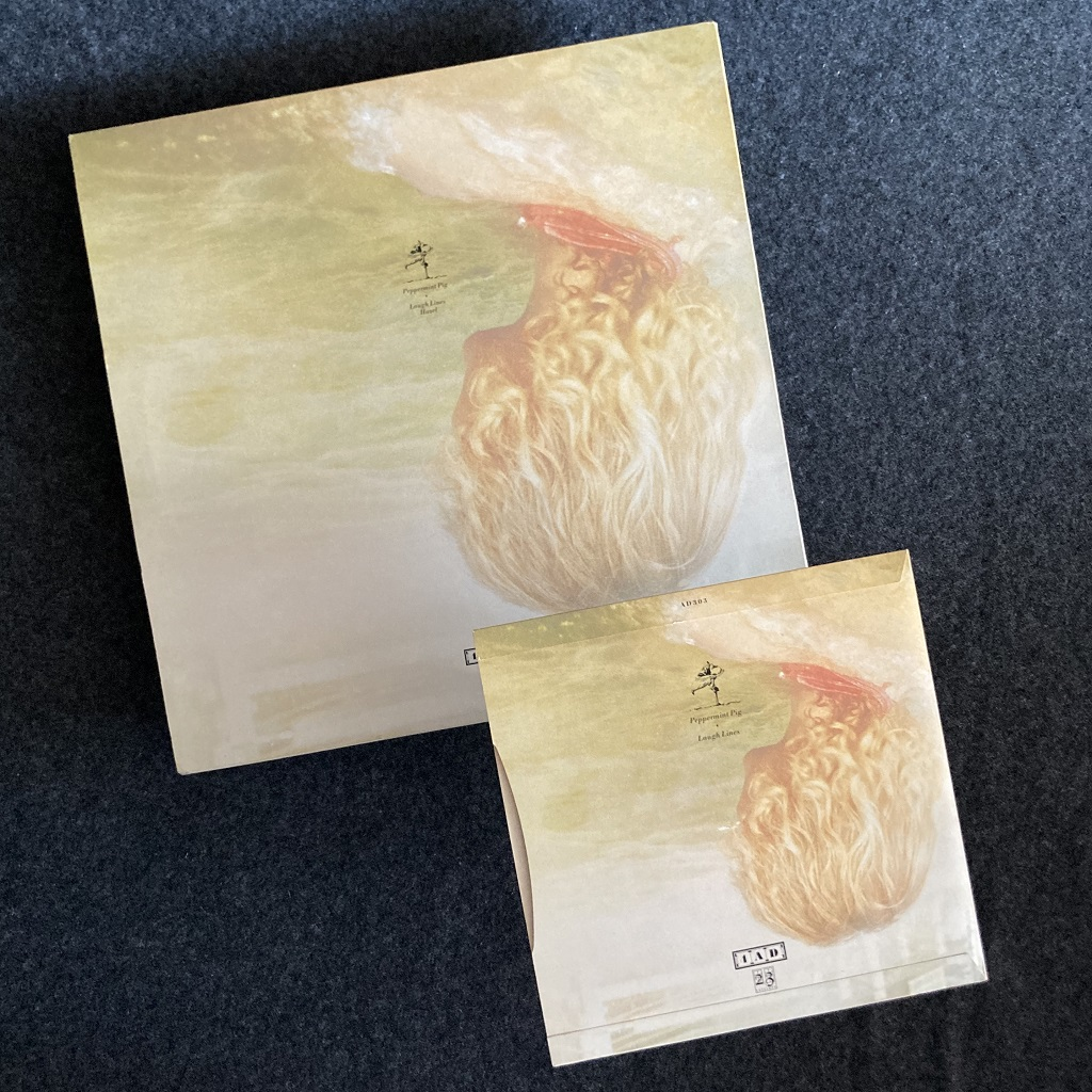 """Cocteau Twins 'Peppermint Pig' 7"""" and 12"""" side by side - rear covers"""