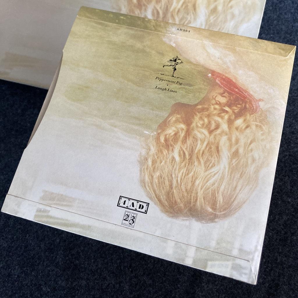 """Cocteau Twins 'Peppermint Pig' 7"""" single rear cover design"""