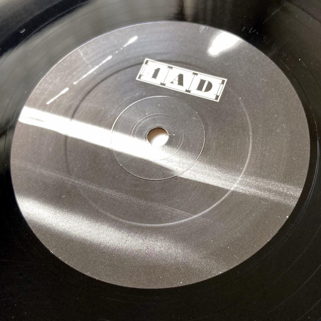 "Cocteau Twins 'Sunburst and Snowblind' UK 12"" EP label design side one"