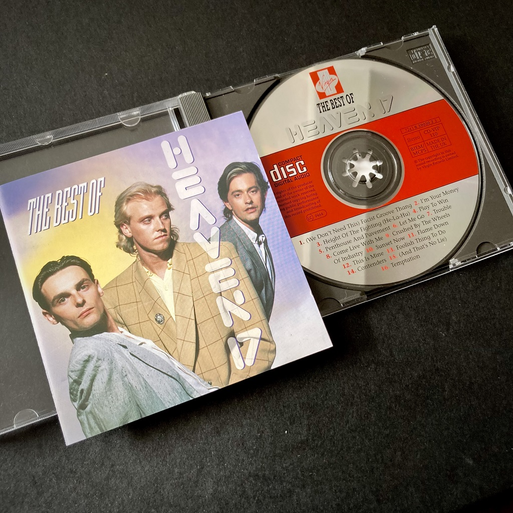 Heaven 17 'The Best Of' CD - cover and CD label design