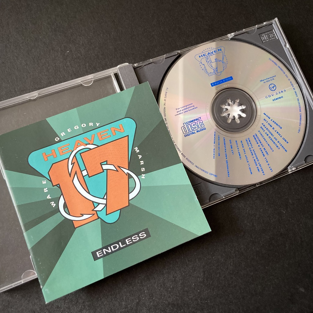 Heaven 17 'Endless' CD - cover and CD disc label design