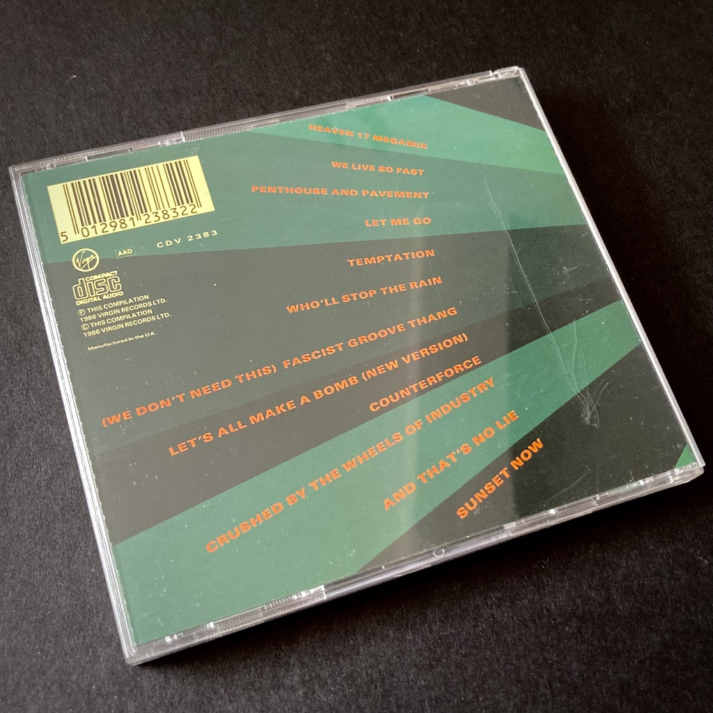Heaven 17 'Endless' CD - cover and CD rear case