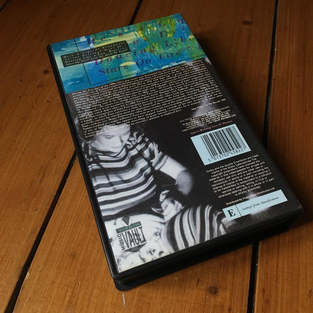 John Foxx 1989 UK VHS video EP - rear cover